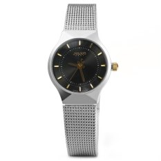 Julius JA - 577 Female Quartz Wrist Watch Ultrathin Stainless Steel Mesh Band Black (Intl)