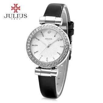 Julius JA - 778 Women Quartz Watch Stereo Star Glass Mirror Artificial Diamond Dial Female Wristwatch