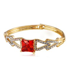 JUNNA Neoglory Jewelry Connect Triangle Crystal Women Bangles BGJ-0004 (Red) (Intl)