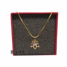 Kalung Liontin Bunga Gold Untuk Wanita Dan Anak /Lapis Emas 18K /Cincin Couple/