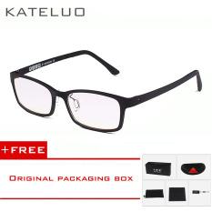 KATELUO Brand TUNGSTEN CARBON Computer Goggle Anti Blue Laser Fatigue Radiation-resistant Reading Glasses Frame Eyeglasses Oculos de grau 1310(Black) [ Buy 1 Get 1 Freebie ]