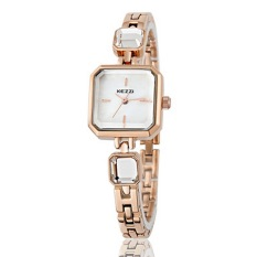 Kezzi Square Ladies Watch Natural shell surface Simple Alloy bracelet watch female students, Rose Gold (Intl)