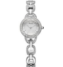 KIMIO Top Brand Women Bracelet Watch Designer Analog Quartz Luxury Rhinestone Ladies Wristwatch Silver (Intl)
