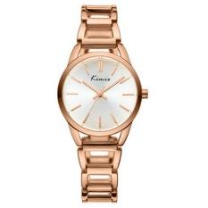 Kimio Women Fashion Rhinestone Dial Quartz Movement Steel Wrist Watch (Rose Gold) (Intl)