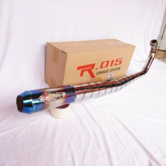 KNALPOT RX KING STANDAR RACING CREAMPIE BLUE SERIES FULL LAS CACING TERMURAH