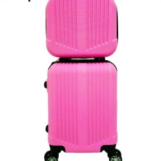 Vertical Stripe Six B11 pink 12 beautycase & 16 Koper Beautycase POLO MAPLE .