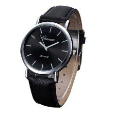 Korean Style Men And Women Fashion Quartz Watch (Black)
