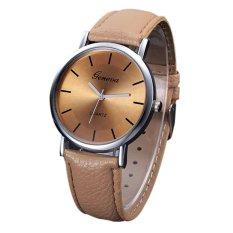 Korean Style Men And Women Fashion Quartz Watch (Brown)