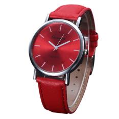 Korean Style Men And Women Fashion Quartz Watch (Red)