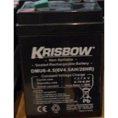Krisbow Rechargeable Battery / Aki Kering 6V 4.5Ah(Pengiriman Jabodetabek Jabar saja)