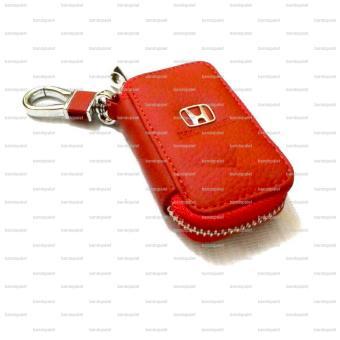 Kulit Gantungan Kunci Mobil Dompet Stnk Logo Honda Mobilio HR-VBrio Satya BR -V