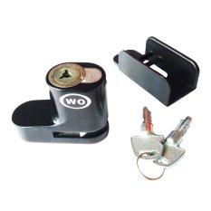 Kunci cakram Pengaman Motor - Kunci Cakram/ Disc-Brake Lock Model WO - Gembok cakram WO - Hitam