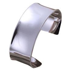 La Vie Sterling Silver Large Circular Openings Bracelet (Silver)