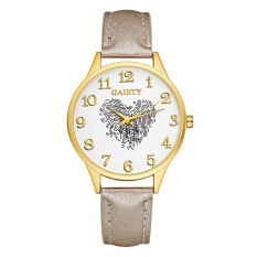 Ladies Leather Button Buckle Leisure Watch - intl