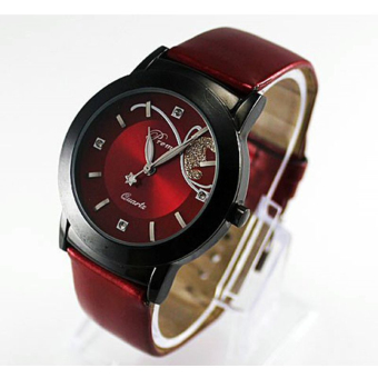 Lady Luxury Diamond Pretty Limited Edition Quartz Wrist Designer Watches (Red) - Intl