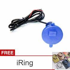 Lanjarjaya USB Charger Motor Waterproof Cas HP di motor - Biru + iRing