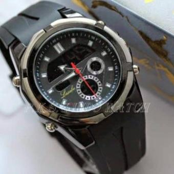 Lasebo - Dual Time - Jam Tangan Sport Pria - Rubber Strap - LSB947417