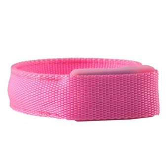 LED Flashing Light Arm Band Sport Wrist Strap Nylon Band Bracelet For Running Jogging Cycling Camping Concert Disco Party Pink