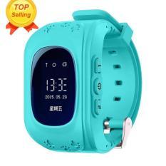 Leegoal aman GPS/GSM perhiasan jam tangan anak Sos disebut anti-kehilangan jam pintar untuk anak-anak, Biru