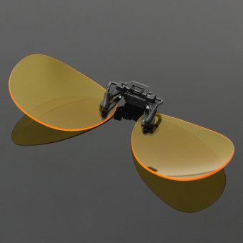 Lensa Pada Kacamata Hitam Klip Terpolarisasi Penangkapan Ikan Malam Mengemudi UV400 Malam Visi Kuning. Rp