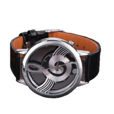 Linemart Synthetic Leather Casual Women Quartz Watch Black (Intl)