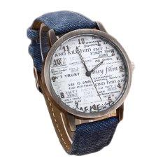 Lowest Neutral Fashion Quartz Watch Men's Sports Watch Denim Strap Watch Women's Fashion Watch Newspapers