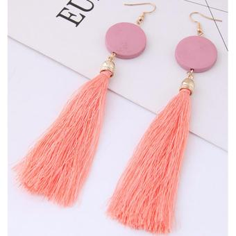 LRC Anting Gantung Elegant Tassel Decorated Earrings