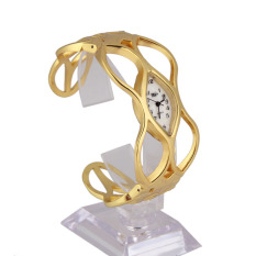 Lucky Unique Design Women Skeleton Bracelet Watch Gold Luxury Dress Lady Watch - intl