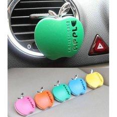 Lucu Apple bentuk mobil AC ventilasi parfum pengharum ruangan aroma Biru - ต่าง ประเทศ