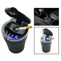 Lullaby Asbak Rokok Mobil Multifungsi LED - hitam