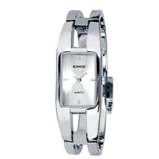 Luxury KIMIO Brand Stainless Steel Watch Women Bracelet Quartz Wristwatch Silver (Intl)