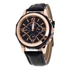 Luxury Brand Women Watches Leather Band Analog Quartz Wrist Watch Black Free Shipping