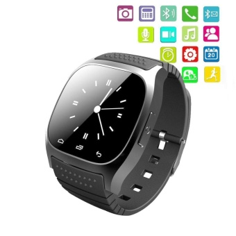 M26 Bluetooth Smart Wrist Bracelet Watch Phone for Android Samsung iPhone Black - intl