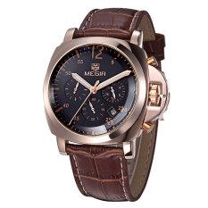 Megir CHRONOGRAPH 24 Hours Function Sport Watch Business Watches Dress Wristwatch Fashion Casual Men's Watch Relogio (Black) (Intl)