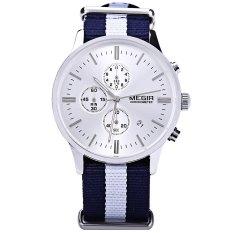 MEGIR M2011 Male Quartz Watch With Three Working Sub-dials Date Function Sport Wristwatch - Intl