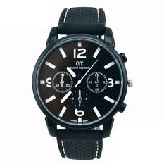 Men Fashion Stainless Steel Sport Cool Quartz Hours Wrist Analog Watch White