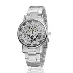Men Hollow Out Quartz Watch Half A Hollowed-out Watch Waterproof Business Quartz Watch (Intl)