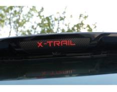 Menjual serat karbon panas diposisikan di belakang lampu rem stiker untuk kasus Nissan X-Trail penipu 2014 2015 2016 Aksesoris Mobil stiker vinil