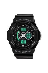 Men's Double Time Stopwatch Mountaineer Quartz Wrist Watch