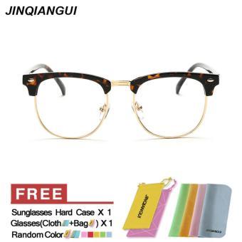 Pria kacamata Fashion Retro Vintage kacamata bulat polos macan tutul bingkai  kacamata untuk miopia pria kacamata d517ba97fb