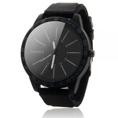 Mens Fashion Stainless Steel Luxury Sport Analog Quartz Wrist Watch Black (Intl)