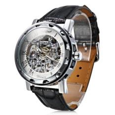 Mens Watch Mechanical Skeleton Hollow Engraving - intl
