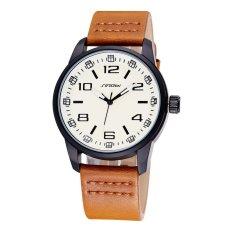 Mens Watches Top Brand Luxury SINOBI High Quality Fashion Design Leather Men Quartz Watch Business Wristwatch