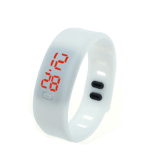 Mens Womens Rubber LED Watch Date Sports Bracelet Digital Wrist Watch White