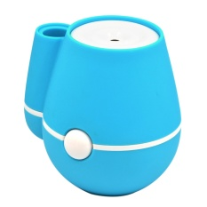Mini Vase Air Humidifier Portable Cool Mist Humidifiers with Mute USB Operation for Office Home Room Bedroom Blue - intl