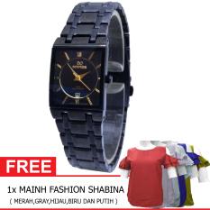 Mirage BOGOF H230D23MRG7908LHTM Date Jam Tangan Wanita Stainless Steel (Hitam) + Gratis MAINH Fashion Shabina Pakaian Wanita