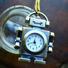 Louiwill Free Shipping Hot Sale Wholesale Cartoon Robot Pocket Watch Russian with Long Chain For Children Students (Intl)