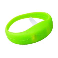 Moonar Light Up Glow Colour Flashing Blinking LED Light Bracelet Bangle Disco Party (Green)