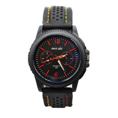 Moonar Sport Silicone Band Watch Cool Men Wrist Watches Red