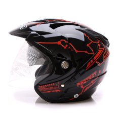 MSR Helmet Impressive - Protect - Double Visor - Hitam Merah